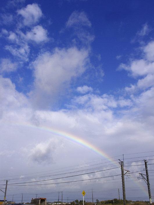 キレイな虹と記念撮影