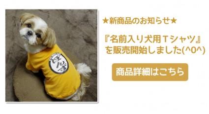 名前入り犬用Tシャツ