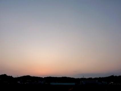 ぽんずと夕日観賞です。